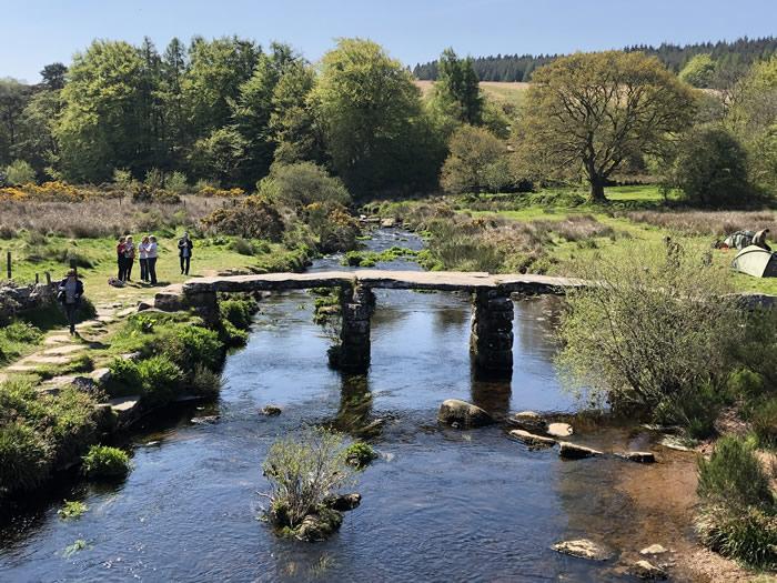clapper bridge on dartmoor photo © viv robinson blue badge guide