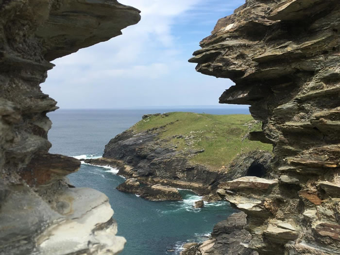 visit tintagel castle with registered blue badge guide viv robinson