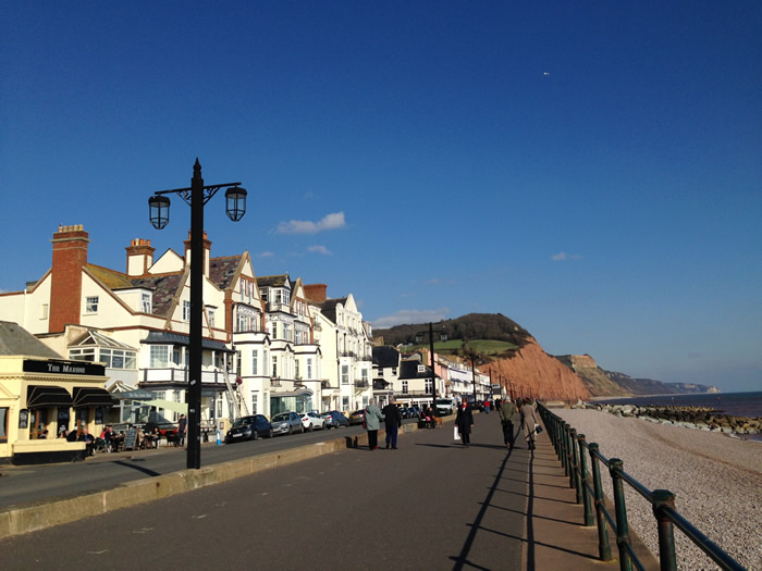 sidmouth sea front - devon coach tours with viv robinson, registered blue badge guide